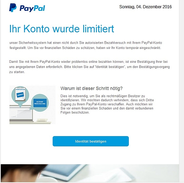 paypal email adresse