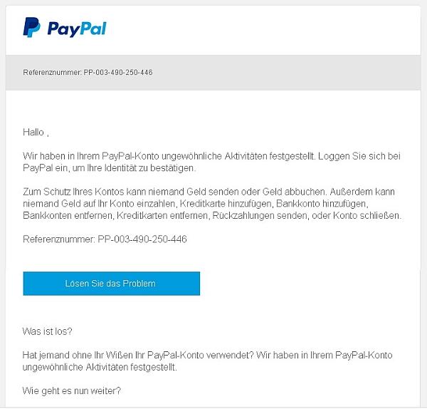 einzahlung auf paypal konto verwendungszweck