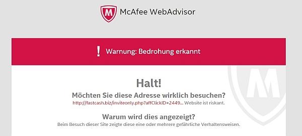 warnung vor webseite