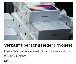 überschüssige Iphones