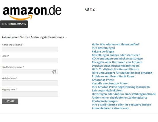 Amazon konto gehackt 2019