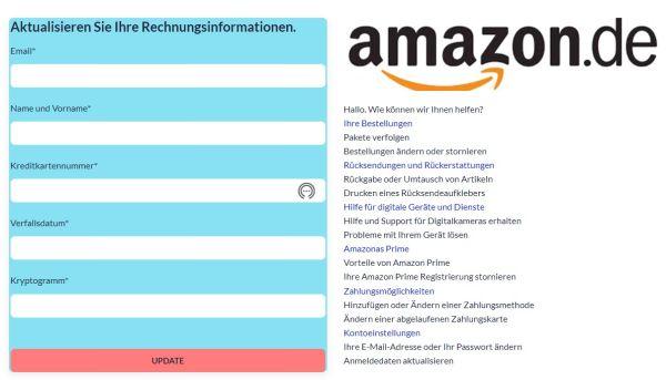 Amazon Kundenmitteilung