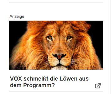 Betrug Vox Schmeisst Die Lowen Aus Dem Programm Internet Nicht Immer Nett
