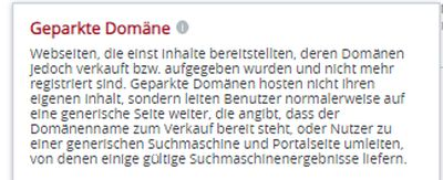 geparkte domain 7.5.2020