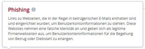 phishing-warnung text 10.6.2020