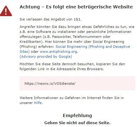 neonx.io-VOSdienste... warnung 12.4.2021
