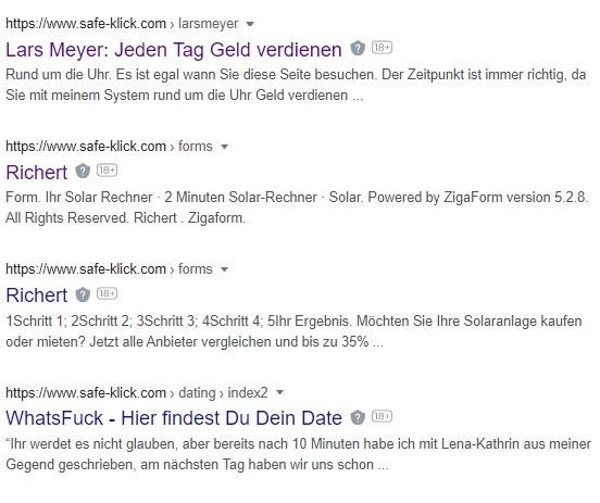 google suche safe-klick.com 2.6.2021
