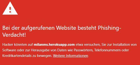 milanms.herokuapp.com - warnung 24.8.2021