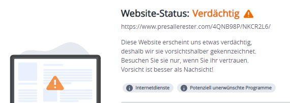 presallerester.com...warnung mcafee 26.8.2021