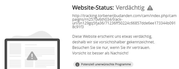 tracking.torbenerjbudanden.com... warnung mcafee 11.8.2021