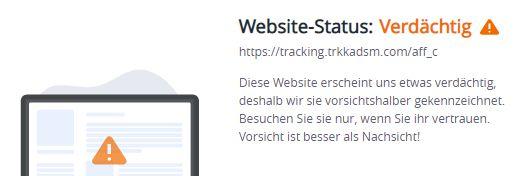 tracking.trkkadsm.com... warnung mcafee 26.8.2021