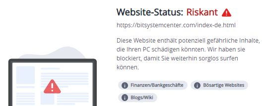 bitsystemcenter.com... warnung mcafee 10.9.2021