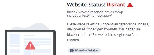 birdsandbicycles.fr... warnung mcafee 4.10.2021