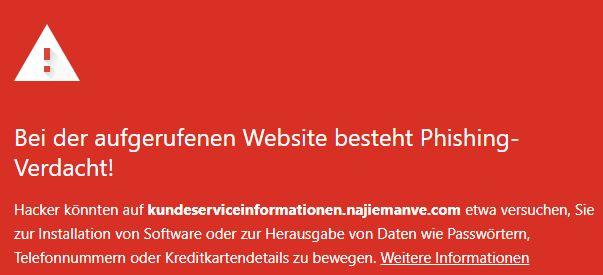kundeserviceinformationen.najiemanve.com warnung 11.10.2021