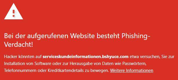 serviceskundeinformationen.bshyuce.com warnung 12.10.2021
