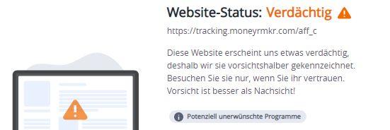 tracking.moneyrmkr.com...warnung mcafee 5.10.2021