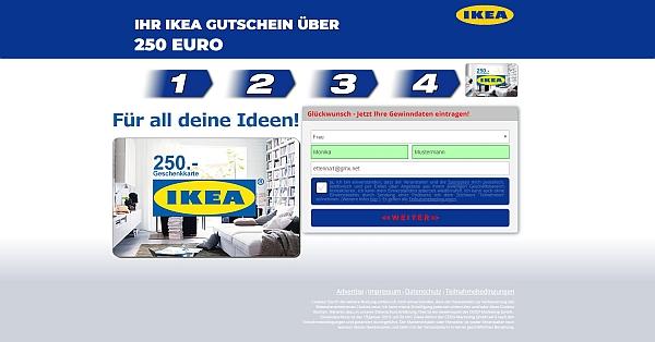 Jetzt Aktivieren Ikea 250 Gutschein Www Betrugabzocke Und Spam