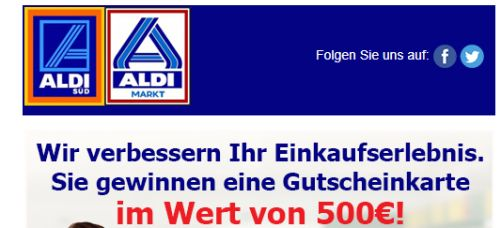 Exclusiv-für-Aldi Kunden - 500€ Gutschein-für SieAldi hat eine Überraschung für ...
