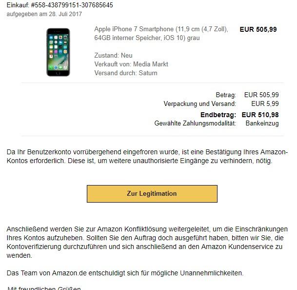 Ihr Amazon Konto Wurde Gesperrt