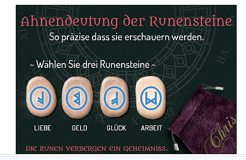 Wählen Sie drei Runensteine