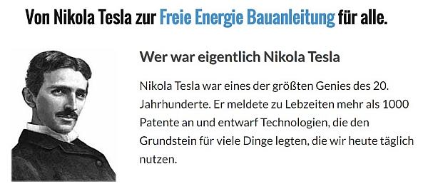 Energie freie maschine tesla nikola Freie Energie
