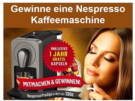Öffnen, Klicken, Anmelden = Nespresso Maschine sichern!