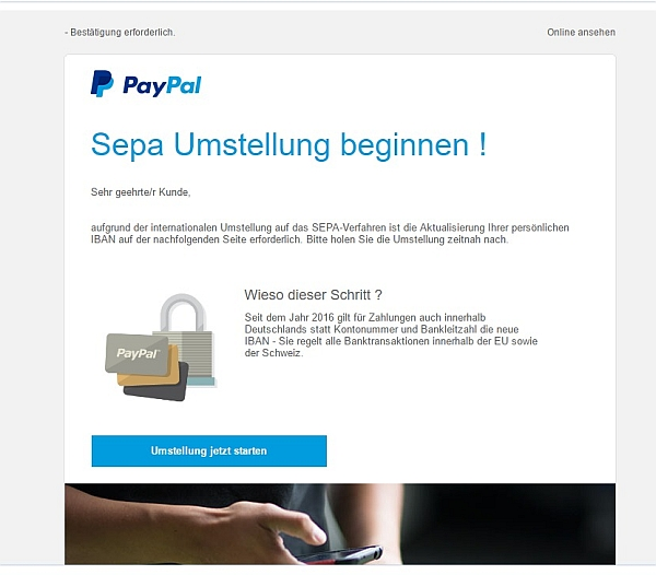 Sepa Umstellung Paypal