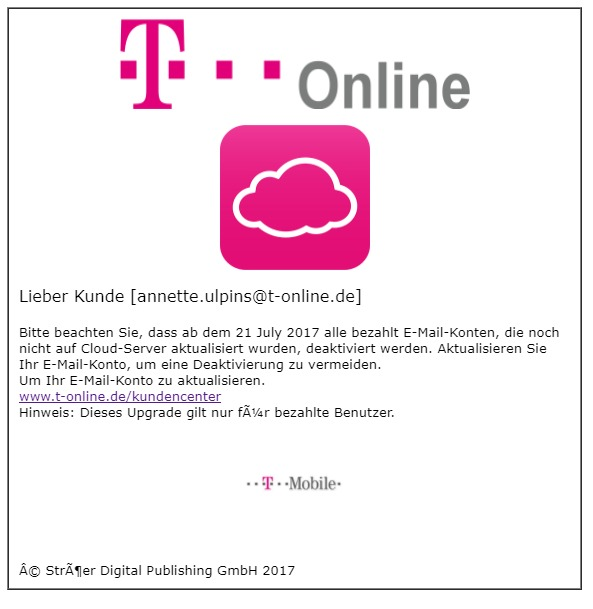 Account Mail Storage Upgrade Von Telekom Kundencenter